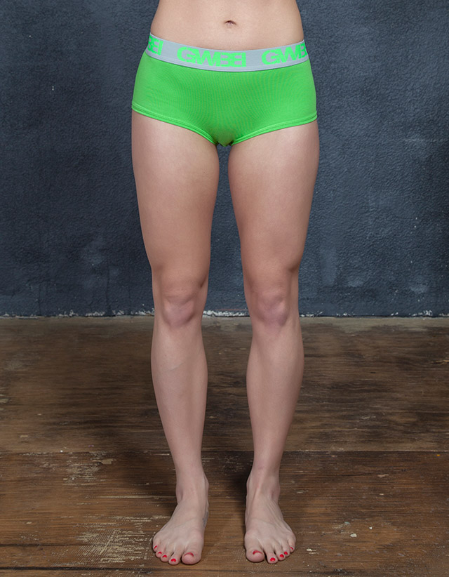 Signature Booty Brief – Lime/Grey