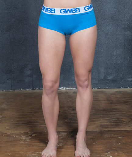 Signature Women's Blue Boy Shorts And Booty Briefs Made With 95% Cotton and 5% Spandex