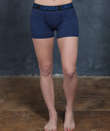 Signature Women's Navy Boxer Briefs Made With 95% Cotton and 5% Spandex