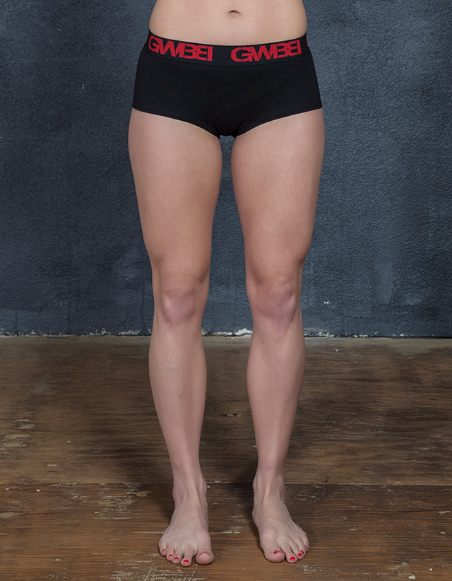Signature Women's Black Boy Shorts And Booty Briefs Made With 95% Cotton and 5% Spandex