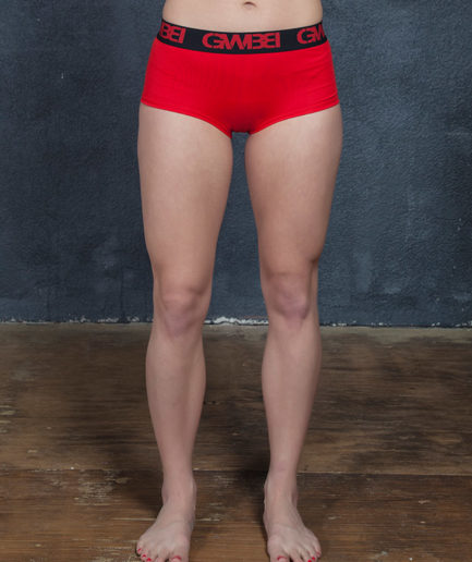Signature Women's Red Boy Shorts And Booty Briefs Made With 95% Cotton and 5% Spandex