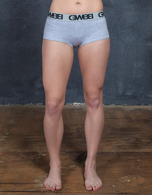 Signature Women's Grey Boy Shorts And Booty Briefs Made With 95% Cotton and 5% Spandex