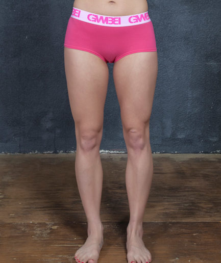 Signature Women's Pink Boy Shorts And Booty Briefs Made With 95% Cotton and 5% Spandex