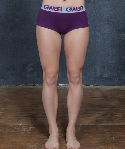 Signature Women's Purple Boy Shorts And Booty Briefs Made With 95% Cotton and 5% Spandex