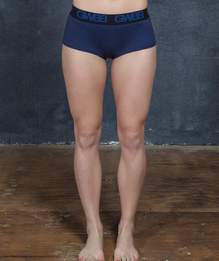 Signature Women's Navy Boy Shorts And Booty Briefs Made With 95% Cotton and 5% Spandex