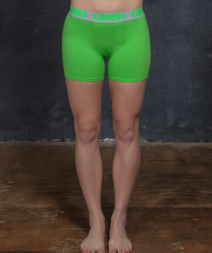 Signature Women's Lime Green Boxer Briefs Made With 95% Cotton and 5% Spandex