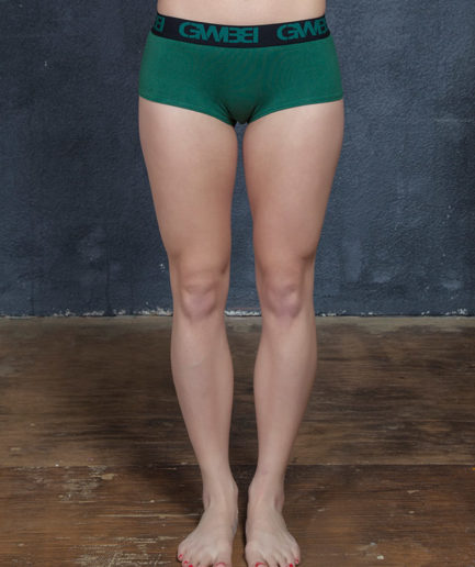 Signature Women's Hunter Green Boy Shorts And Booty Briefs Made With 95% Cotton and 5% Spandex