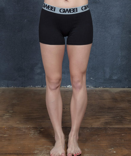 Signature Women's Black And Grey Boxer Briefs Made With 95% Cotton and 5% Spandex