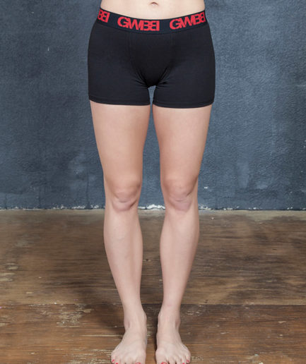 Signature Women's Black and Red Boxer Briefs Made With 95% Cotton and 5% Spandex