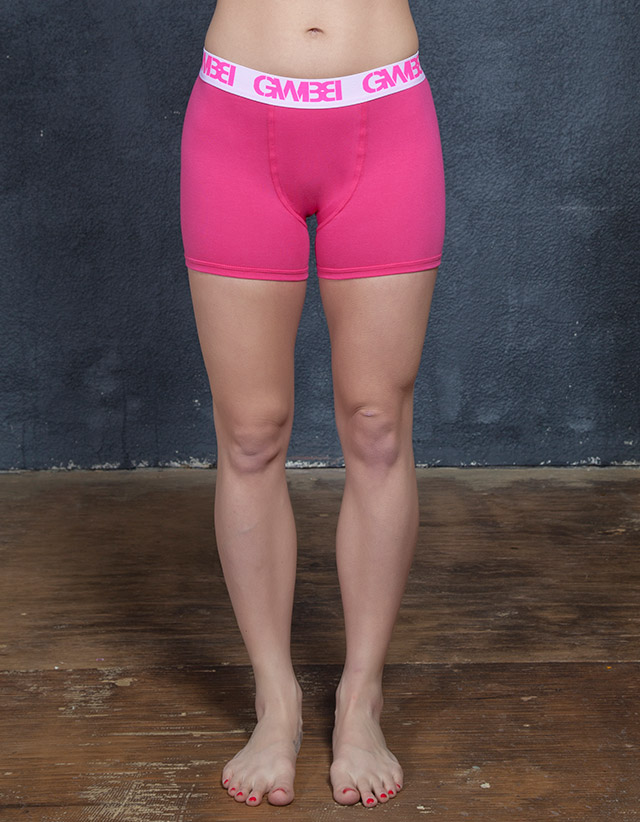 Signature Women's Pink Boxer Briefs Made With 95% Cotton and 5% Spandex